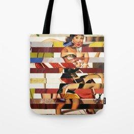 Glitch Pin-Up Redux: Emma Tote Bag