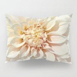 Dahlia white macro 043 Pillow Sham