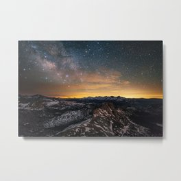 Matthes Crest Night Metal Print