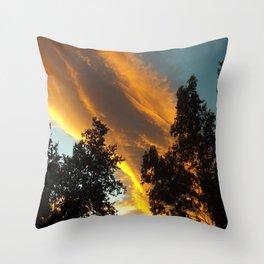 Sky Flame Throw Pillow