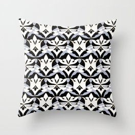 Interwoven XX - Black Throw Pillow