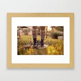 Mud Jump Framed Art Print