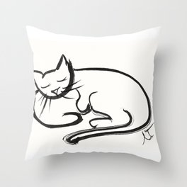 Cat II Throw Pillow