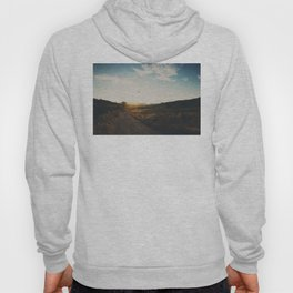 A bird in flight & a vineyard at sunset Hoody