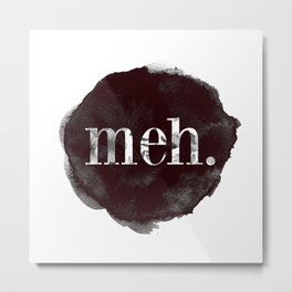 Meh floral watercolor Metal Print