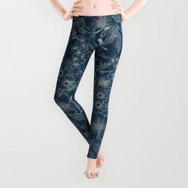 indigo bloom // repeat pattern Leggings