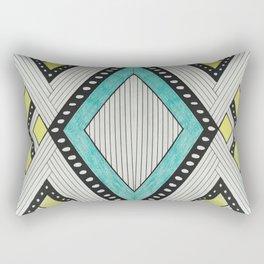 Color Block Stripes Rectangular Pillow