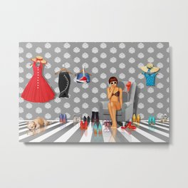 What do I wear? Metal Print
