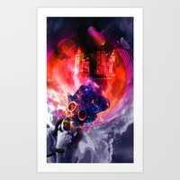 sandman Art Prints featuring Sandman by Limbolun