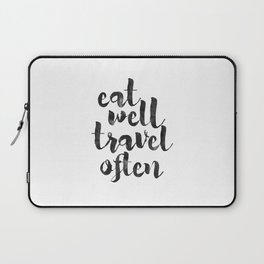 printable art,eat well travel often,kitchen decor,travel sign,travel gifts,quote prints,inspiration Laptop Sleeve