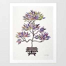 Bonsai Tree – Vintage Palette Art Print