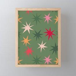 Colourful Sparkles - Green Framed Mini Art Print