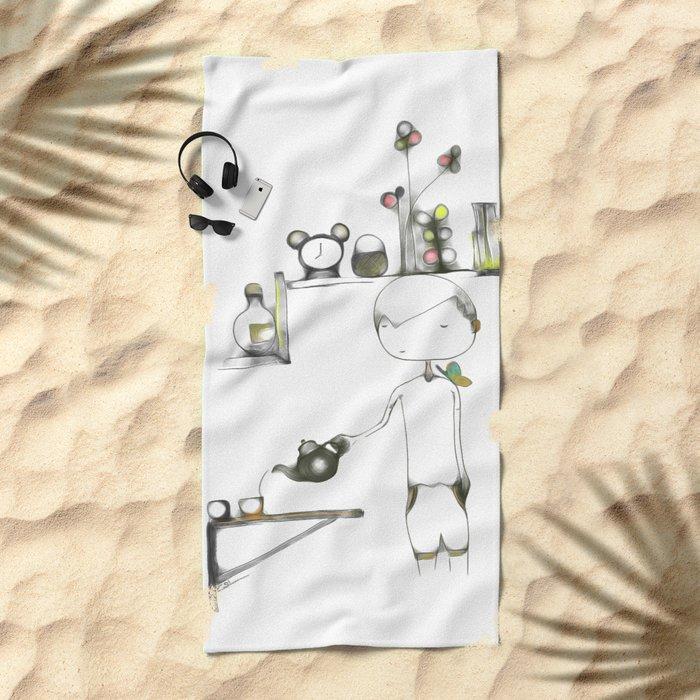 life's good - cs184 Beach Towel