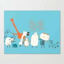Chair's game Canvas Print