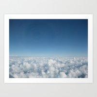 Fluffy Clouds I Art Print