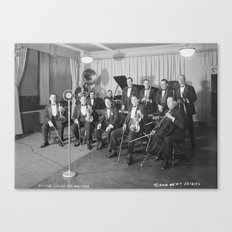Vintage black and white photo of orchestra Canvas Print