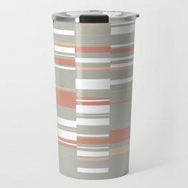 Mosaic Neutrals | Organic Rectangles in Sage, Brick, Peach and White Travel Mug
