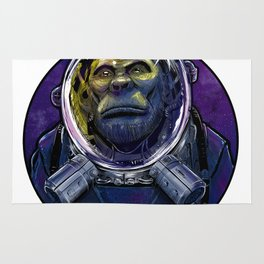 Ape in space suit no.02 Rug