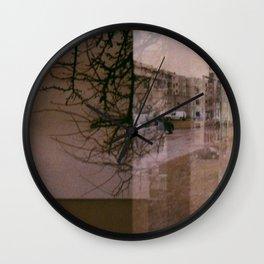 Trees n street Wall Clock