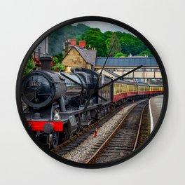 Steam Locomotive Wales Wall Clock
