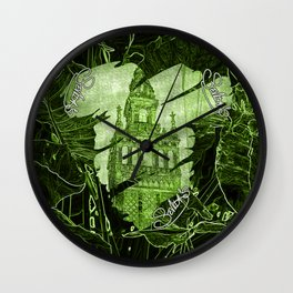 Sevilla's V All Over Print Shirts Wall Clock