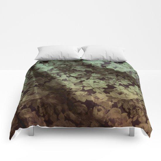 drape floral Comforters