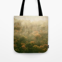 Clouds Caught in Trees Tote Bag
