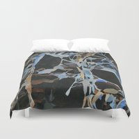 insect Duvet Covers featuring Insect Graveyard by Rachel Hoffman