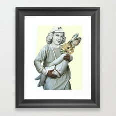 The Woman Who Gave Birth To A Rabbit, Part II Framed Art Print