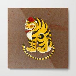 Minhwa: Big Happy Cat A Type (Korean traditional/folk art) Metal Print