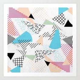 Pizza Retro Geometric 80's Kunstdrucke