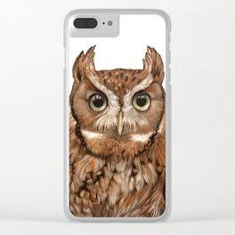 Screech Owl Clear iPhone Case