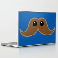 mustache Laptop & iPad Skins featuring Mustache by NKonyk