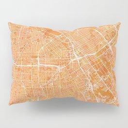 San Jose, CA, USA, Gold, Blue, City, Map Pillow Sham
