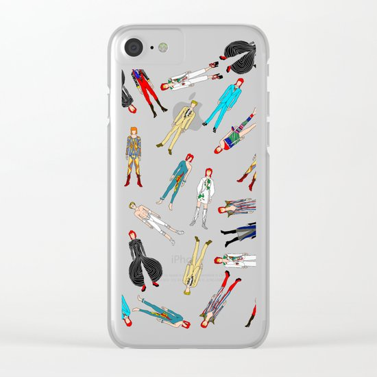 Floating Bowies Clear iPhone Case
