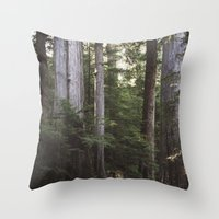 giants Throw Pillows featuring Among Giants by Frances Dierken