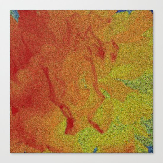 Flower | Flowers | Fading Flower | Red Abstract Canvas Print