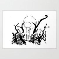walk the moon Art Prints featuring Moon Walk by Karina O'Brien