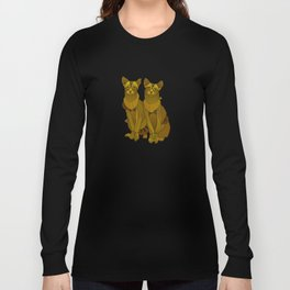 Steampunk Oriental Shorthaired Cats Long Sleeve T-shirt