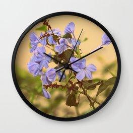 blue flowers !  Wall Clock