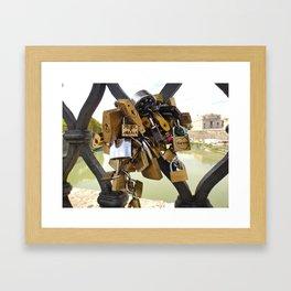 Loved Locked Framed Art Print