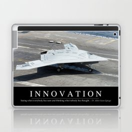 Innovation: Inspirational Quote and Motivational Poster Laptop & iPad Skin