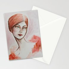 Take the night from me - fashion watercolour Stationery Cards