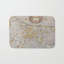 Vintage Map of Holland (1606) Bath Mat