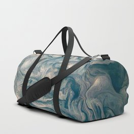 Jupiter Stormy Weather Watercolor Texture Duffle Bag
