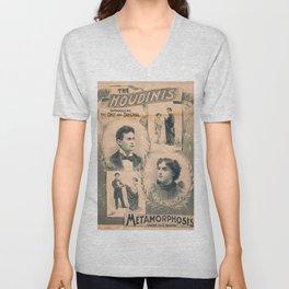 Houdini, Metamorphosis, vintage poster Unisex V-Neck
