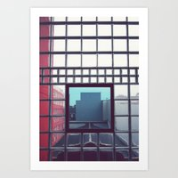 grid Art Prints featuring Grid by Ubik Designs