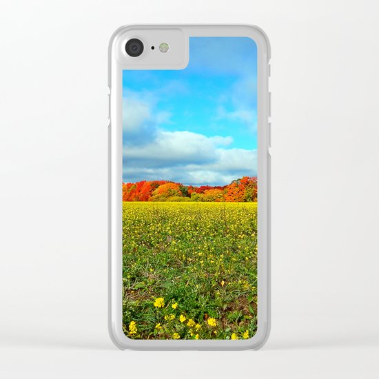 Autumn's Contrasts Clear iPhone Case