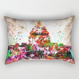 United States Capitol Grunge Rectangular Pillow