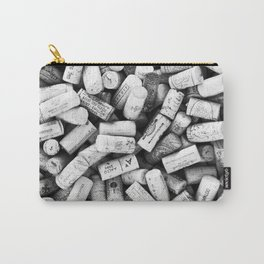 Something Nostalgic II Twist-off Wine Corks in Black And White #decor #society6 #buyart Carry-All Pouch
